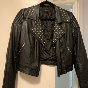 COPY - Motel Rocks leather faux jacket with studs